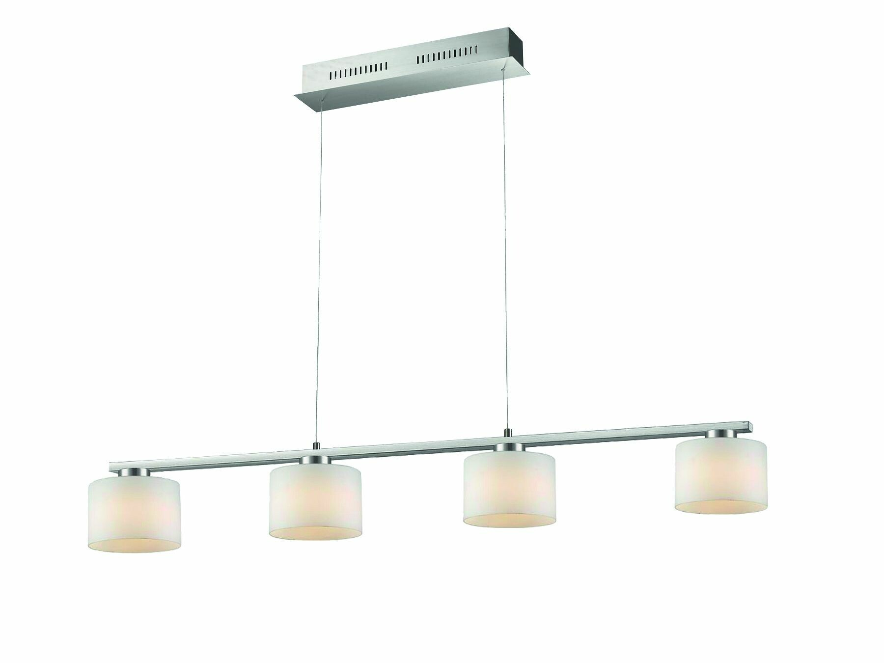 LEO Hanglamp LED 4x60W/630lm Zilver