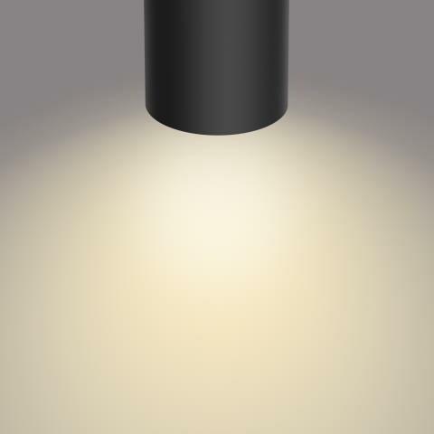 Philips BYRL Opbouwspot LED 4x4,3W/430lm Zwart