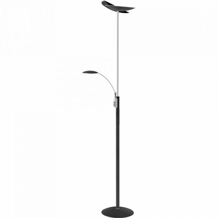 SAPPORO Lampadaire LED 2x30W/1425lm Noir