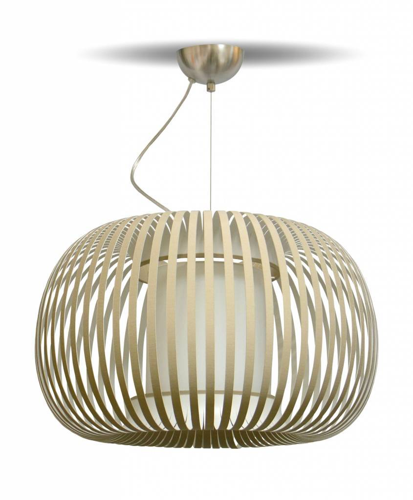 ESTENO Hanglamp E27 1x Bruin