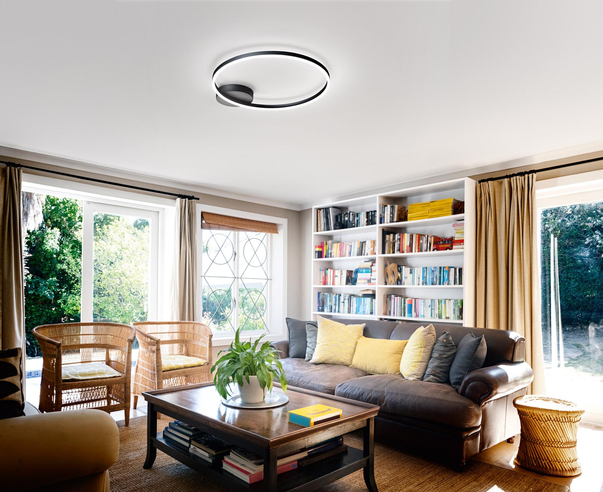 GIOTTO Plafondlamp LED 1x36W/3240lm Rond Zwart