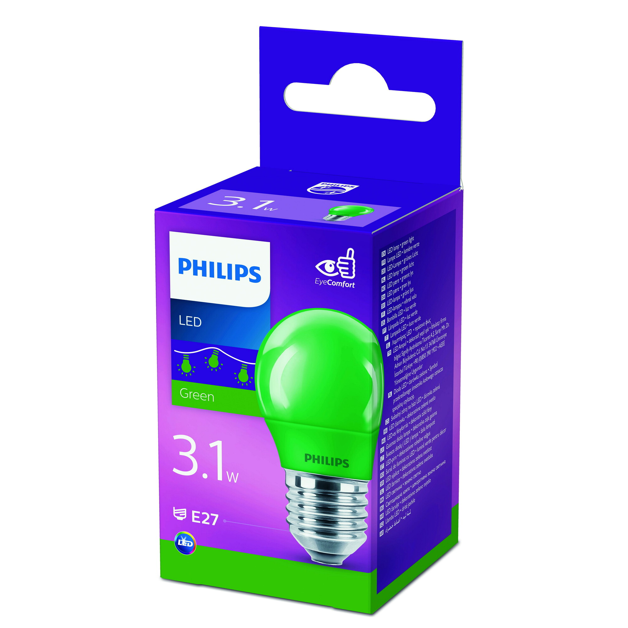 Philips LED E27 3,1W 0lm Kogel Frosted