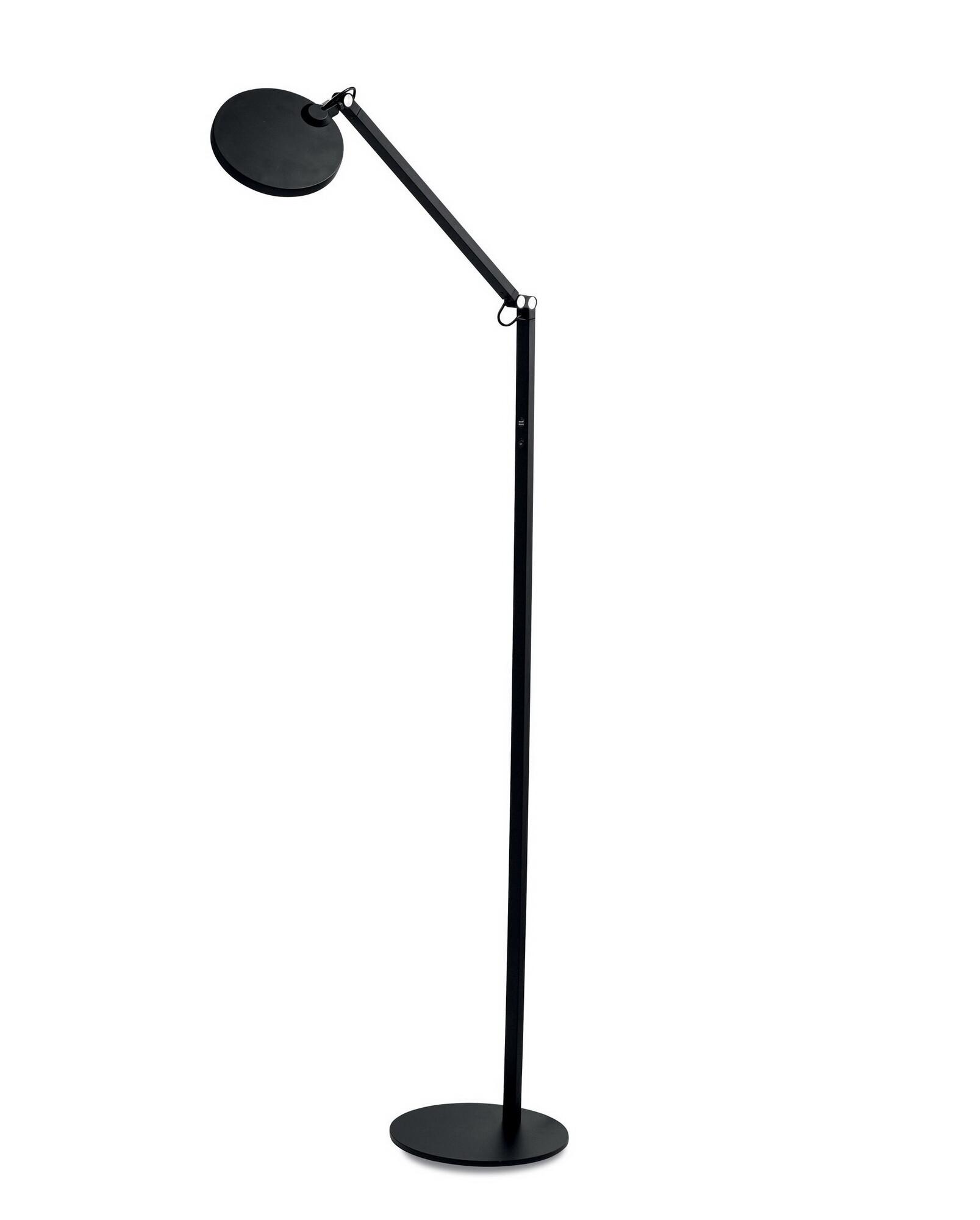 REGINA Lampadaire LED 1x9W/1000lm Rond Noir