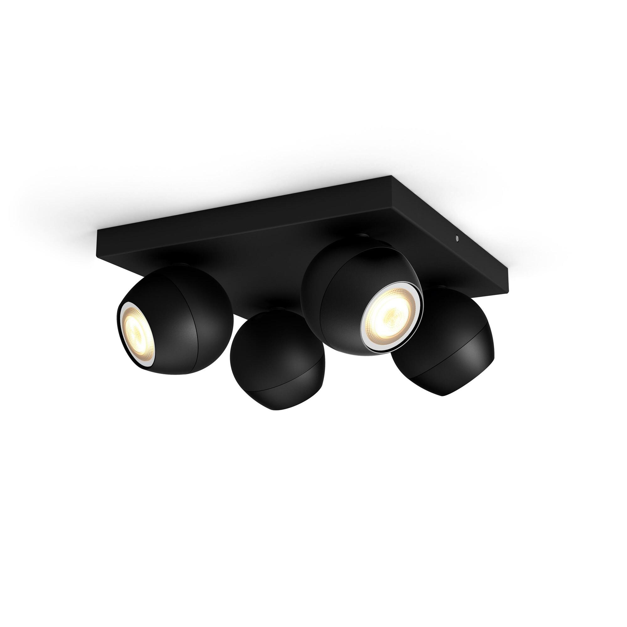 Philips HUE BUCKRAM Spot apparent GU10 4x5W Noir