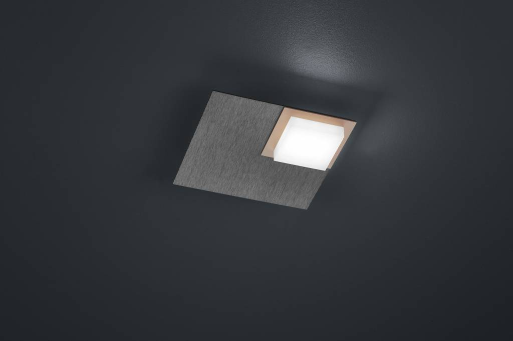 QUADRO Plafondlamp LED 1x 800lm Antraciet