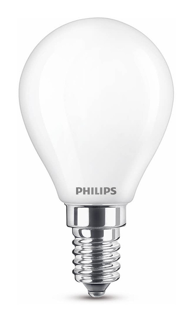 Philips LED classic E14 4,5W 470lm 2200K-2700K Kogel Frosted