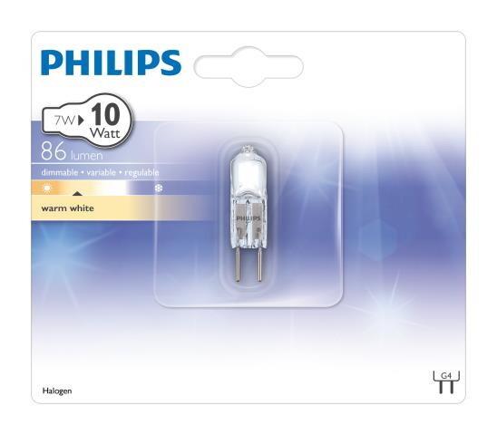 Philips HALOCAP G4 7W 86lm 2700K Capsule Transparent