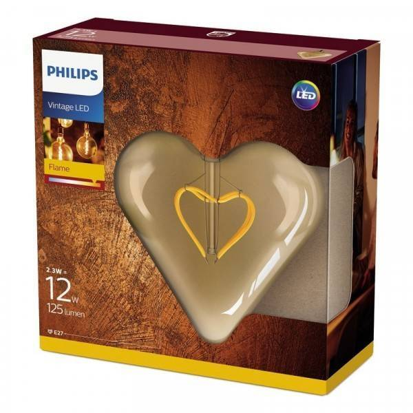 Philips LED classic E27 2,3W 125lm 2000K Lamp Gouden coating
