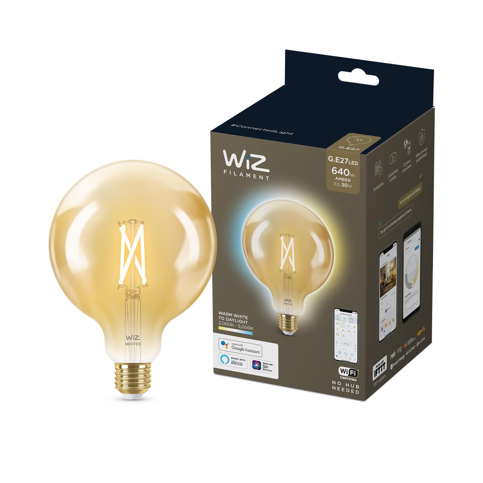 WiZ E27 50W 640lm 2000K Globe Gouden coating