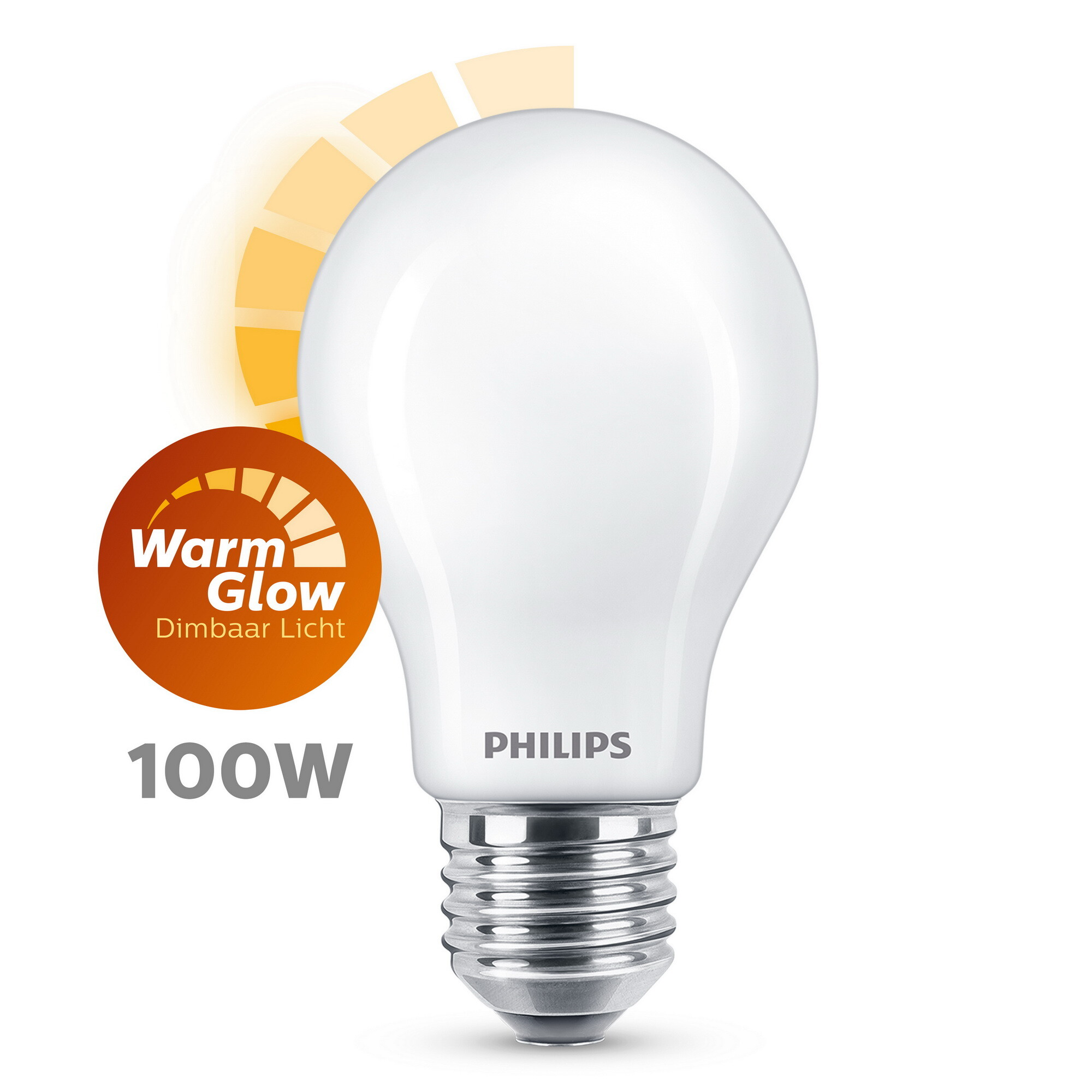 Philips LED classic E27 12W 1521lm 2200K-2700K Lamp Frosted