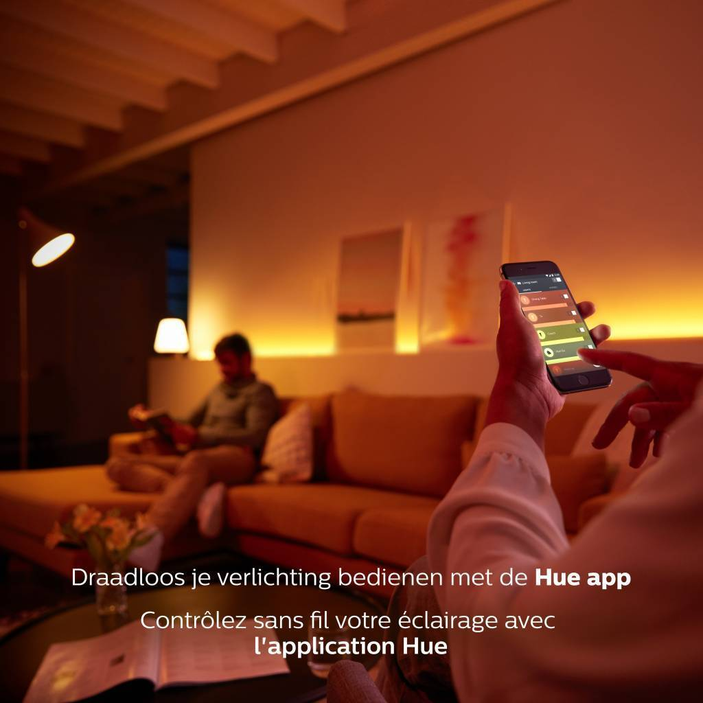 Philips HUE White and color ambiance E14 6,5W 470lm 2000K-6500K Lamp Frosted