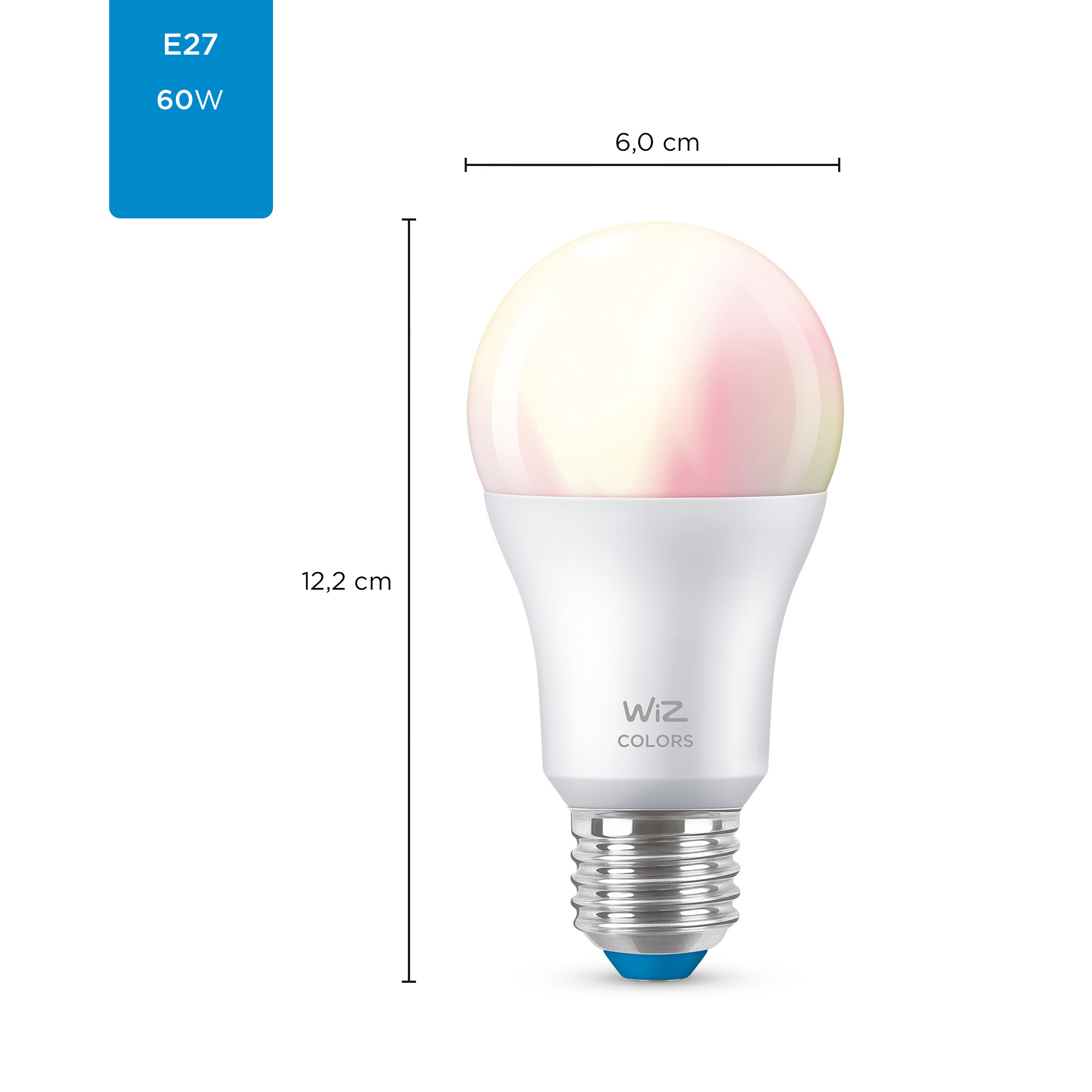 WiZ E27 60W 806lm 2200K-6500K Lamp Frosted