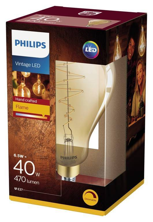 Philips GIANT E27 6,5W 470lm 2200K Lamp Gouden coating