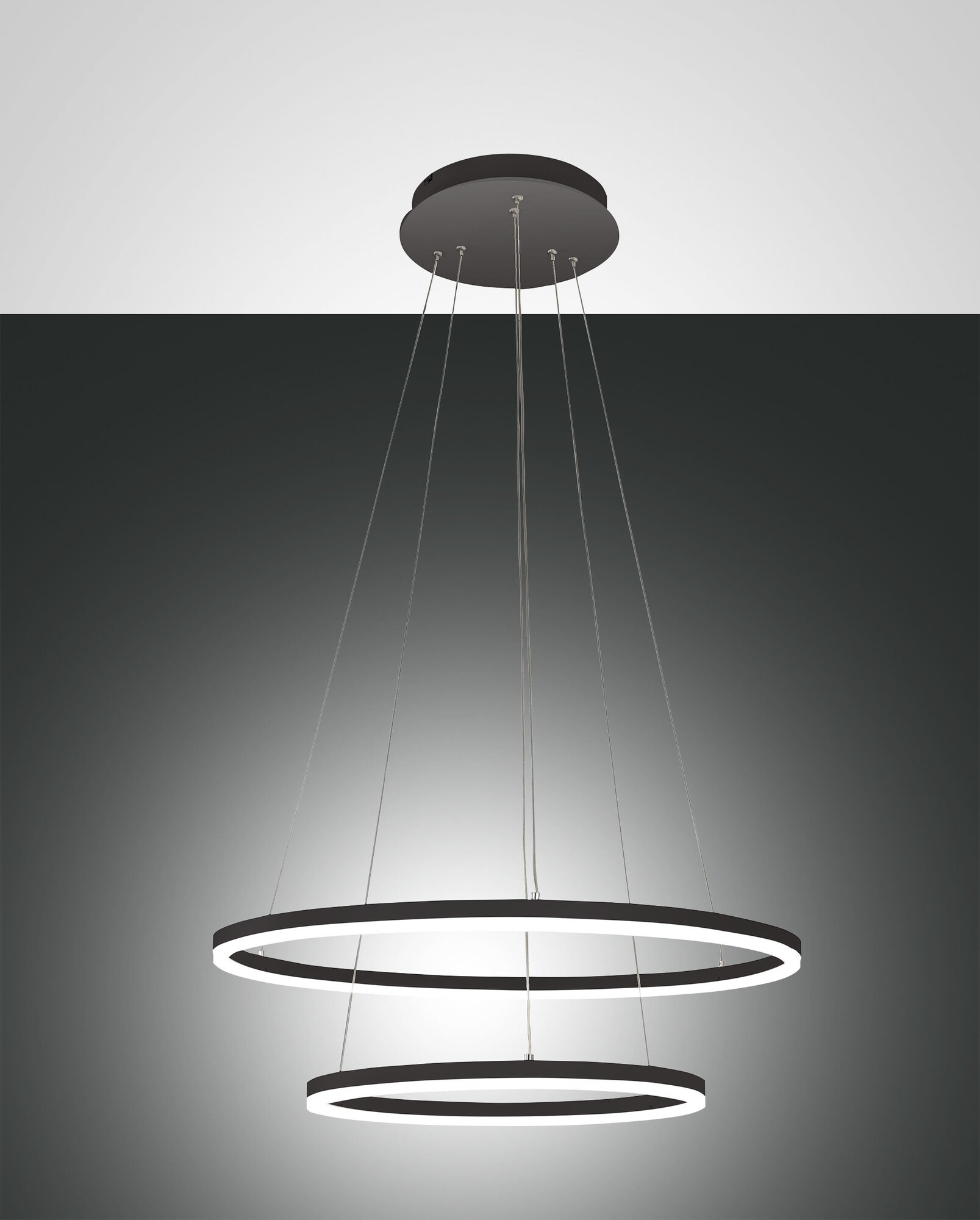 GIOTTO Hanglamp LED 2x52W/4680lm Zwart