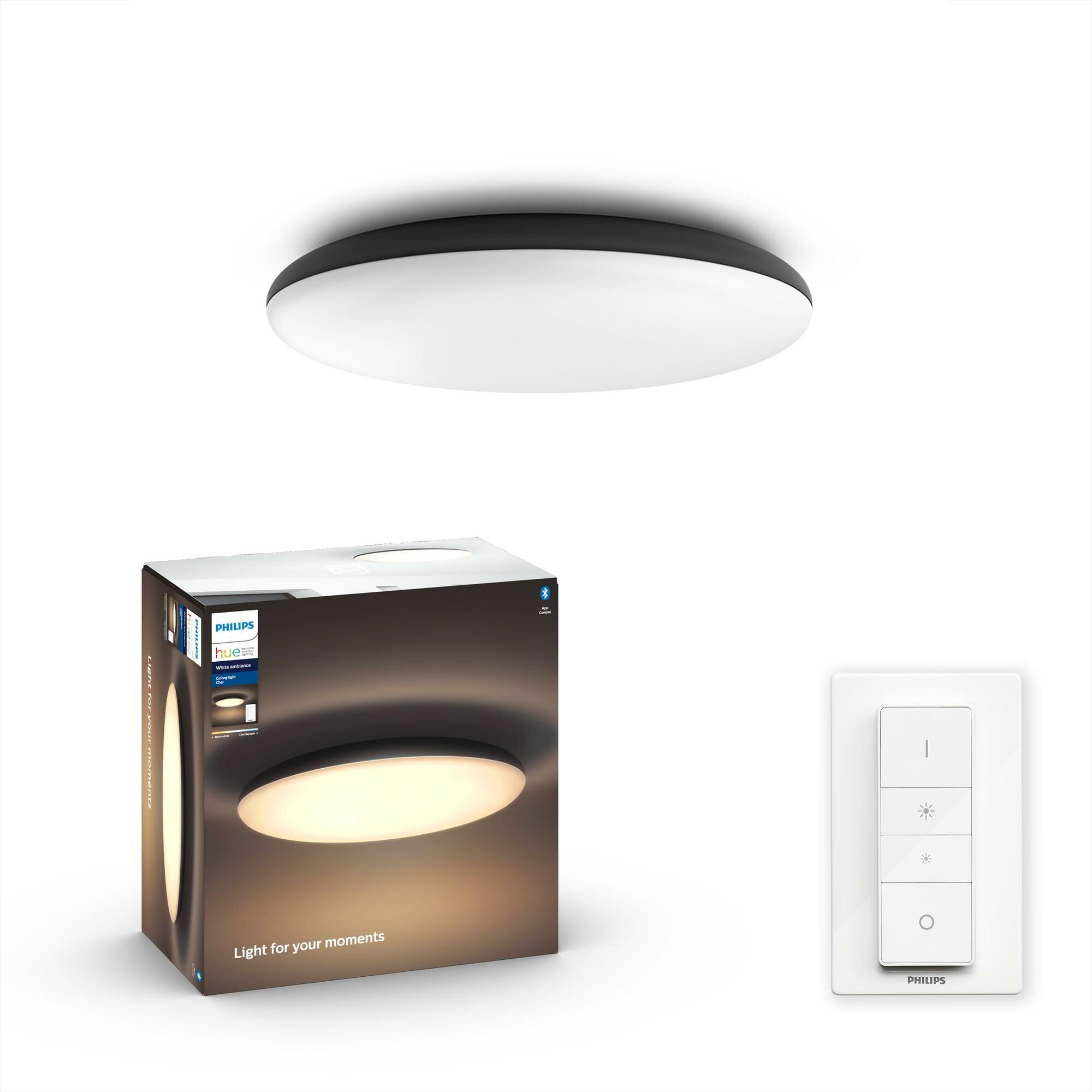 Philips HUE CHER Plafondlamp LED 1x33,5W/3000lm Zwart