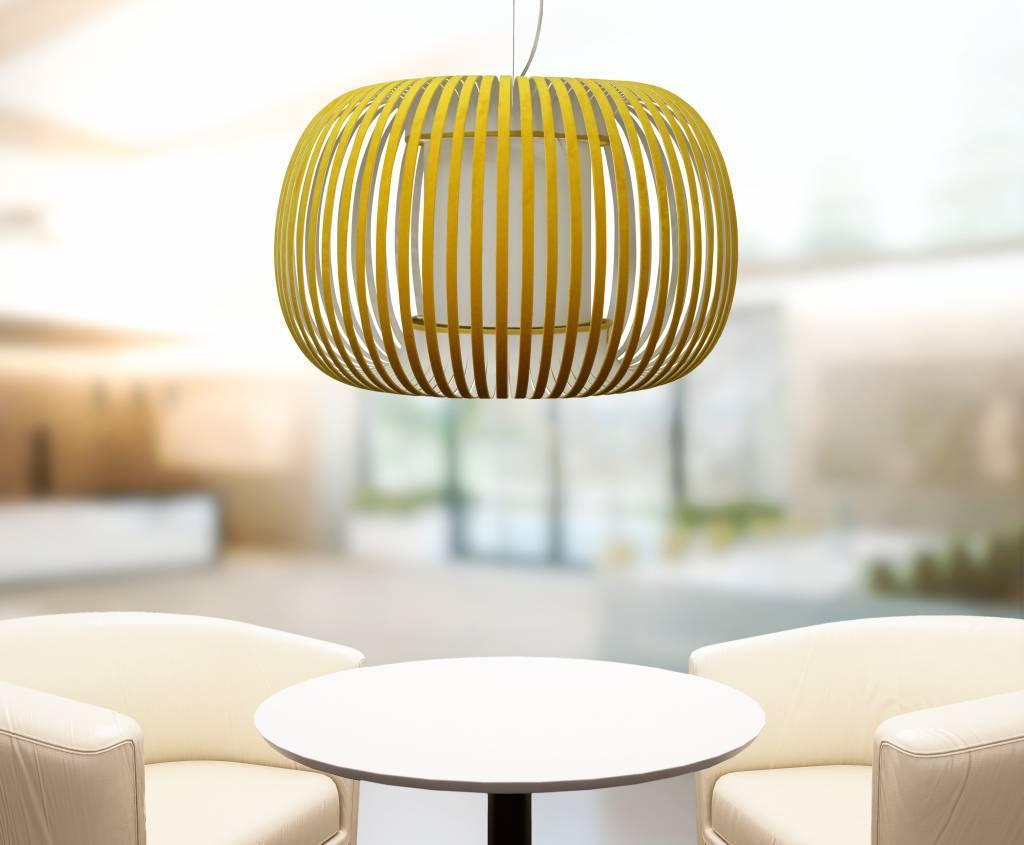 ESTENO Hanglamp E27 1x Geel
