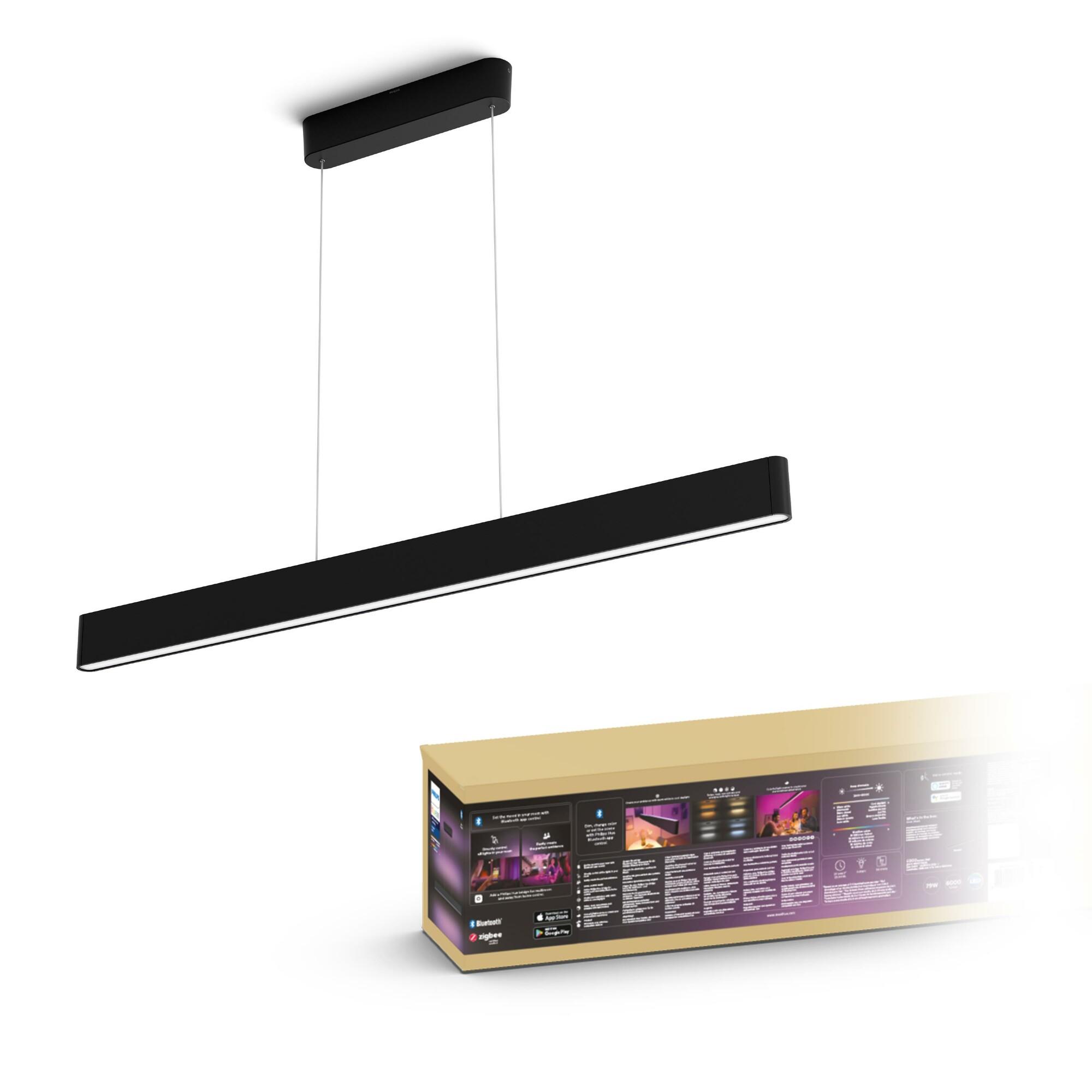 Philips HUE ENSIS Hanglamp LED 2x39W/3000lm Zwart