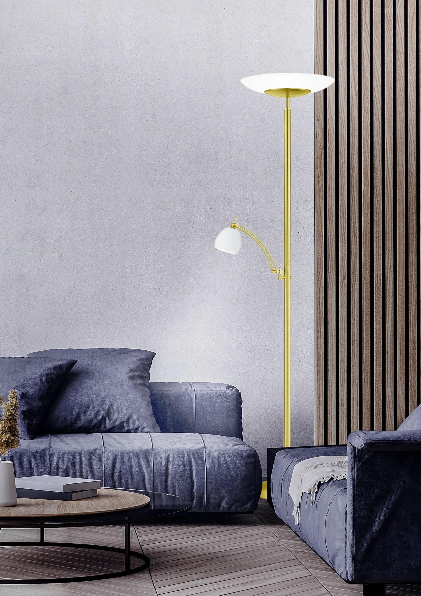 CENTURION Vloerlamp LED 2x30W/1500lm Goud