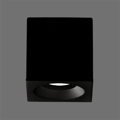 BRANCO Opbouwspot GU10 1x Vierkant Zwart