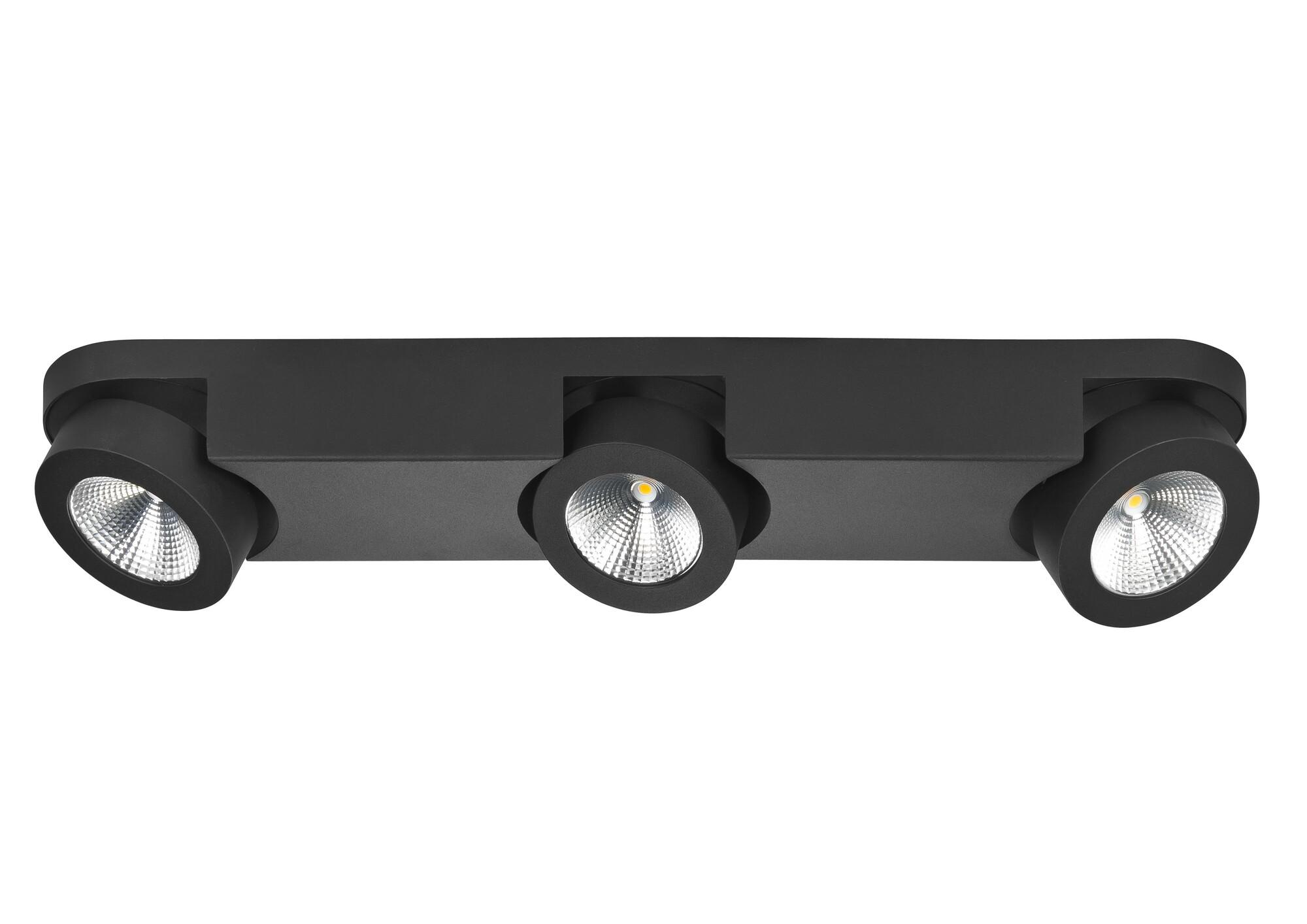 MONTI Opbouwspot LED 3x5W/450lm Zwart