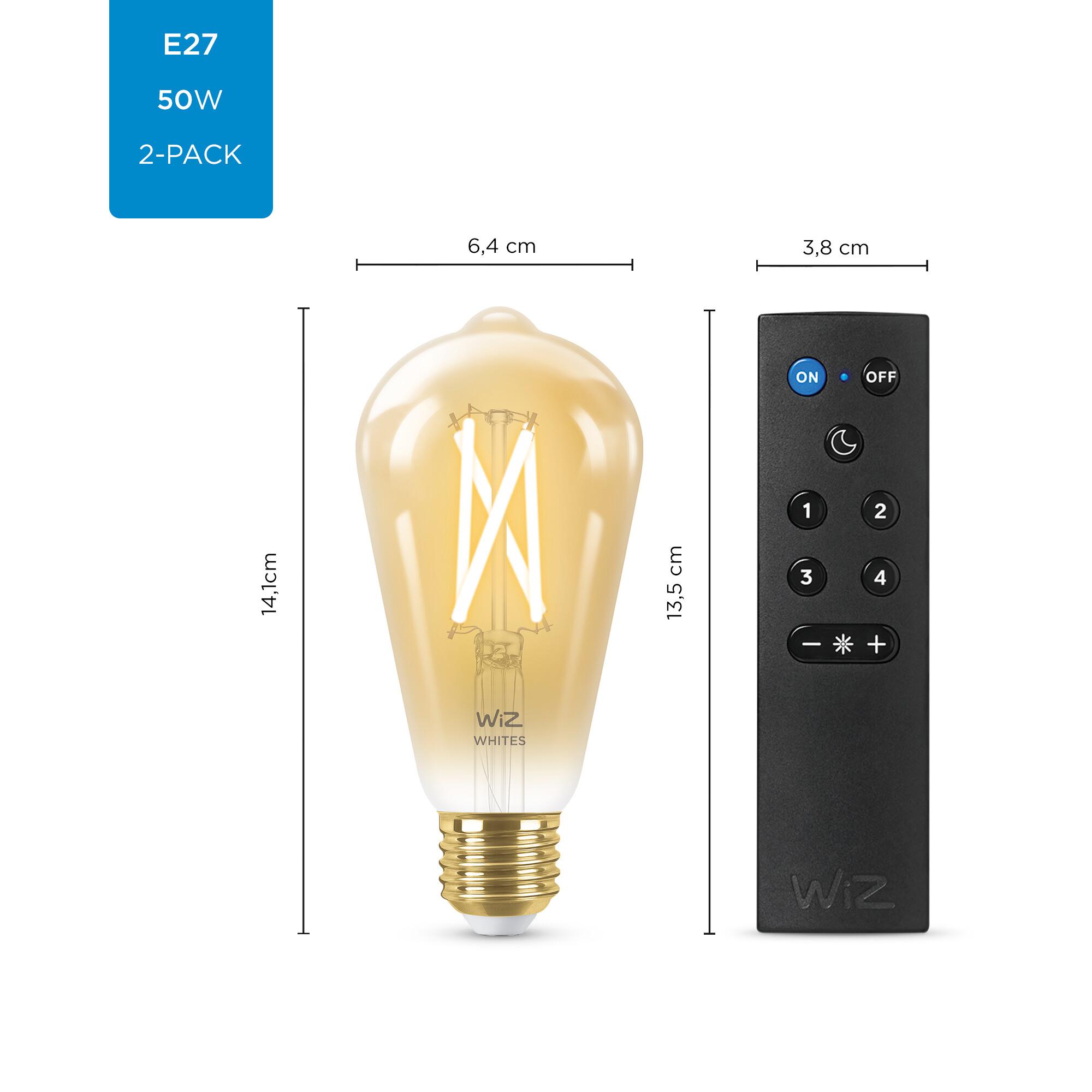 WiZ E27 50W 640lm 2000K Edison Gouden coating