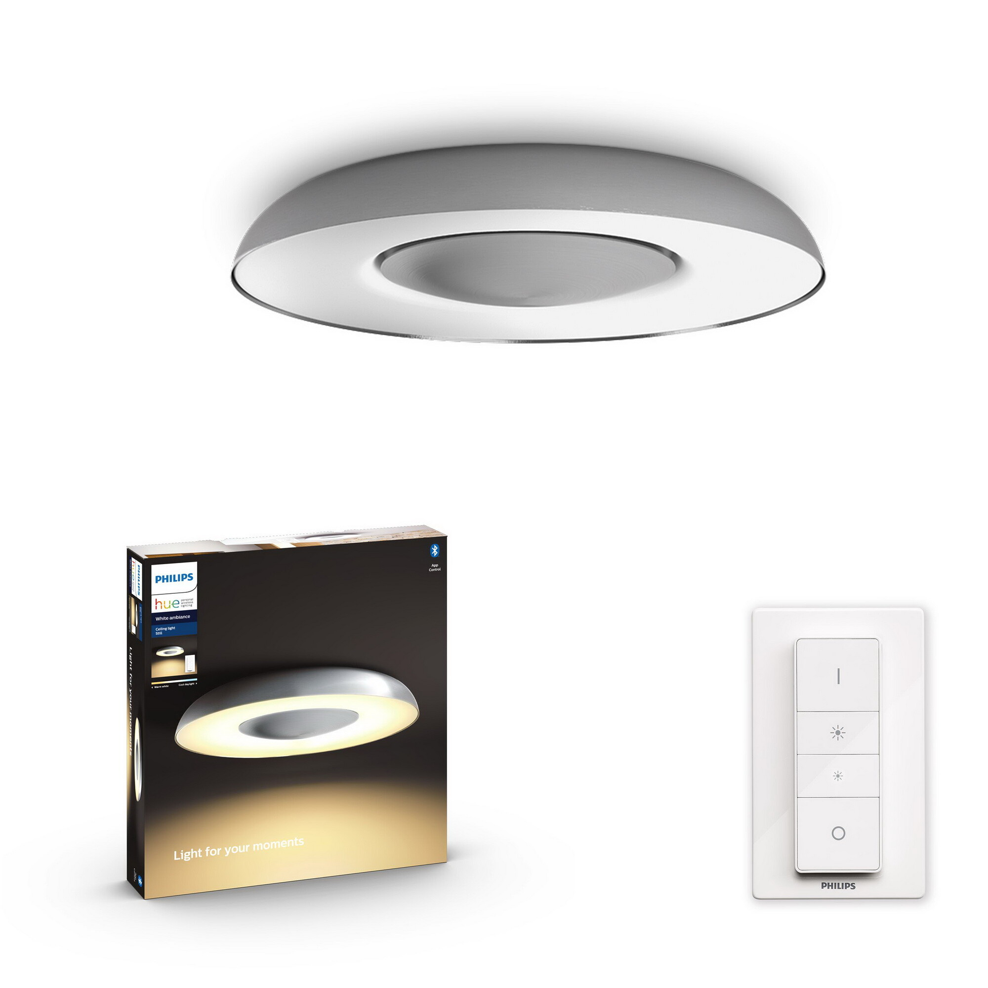 Philips HUE STILL Plafondlamp LED 1x32W/2400lm Zilver