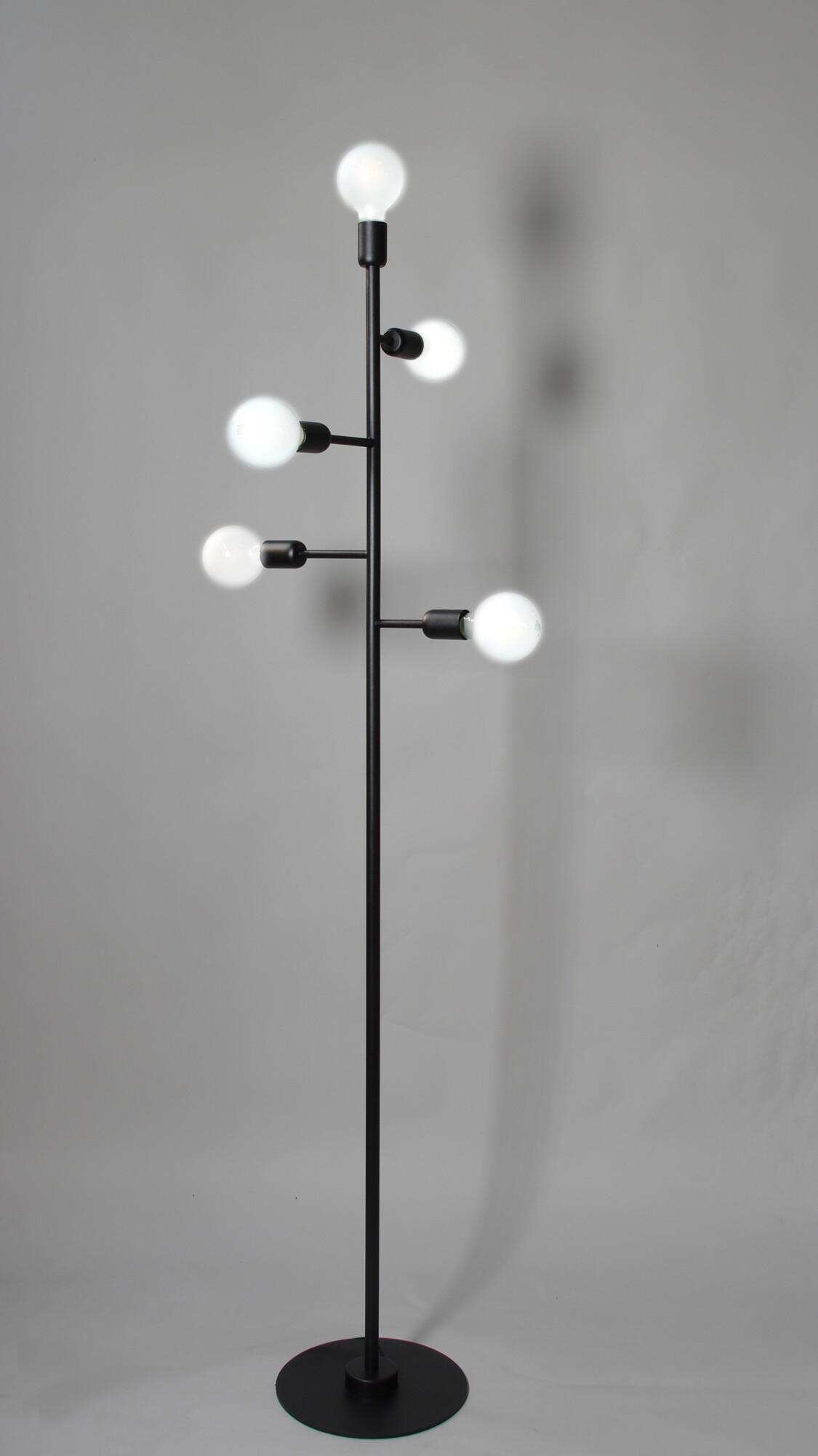 STYLE Lampadaire E27 5x Noir