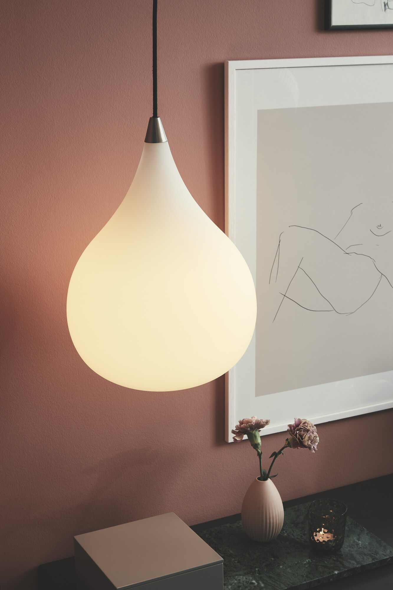 DROP Hanglamp E14 1x Wit