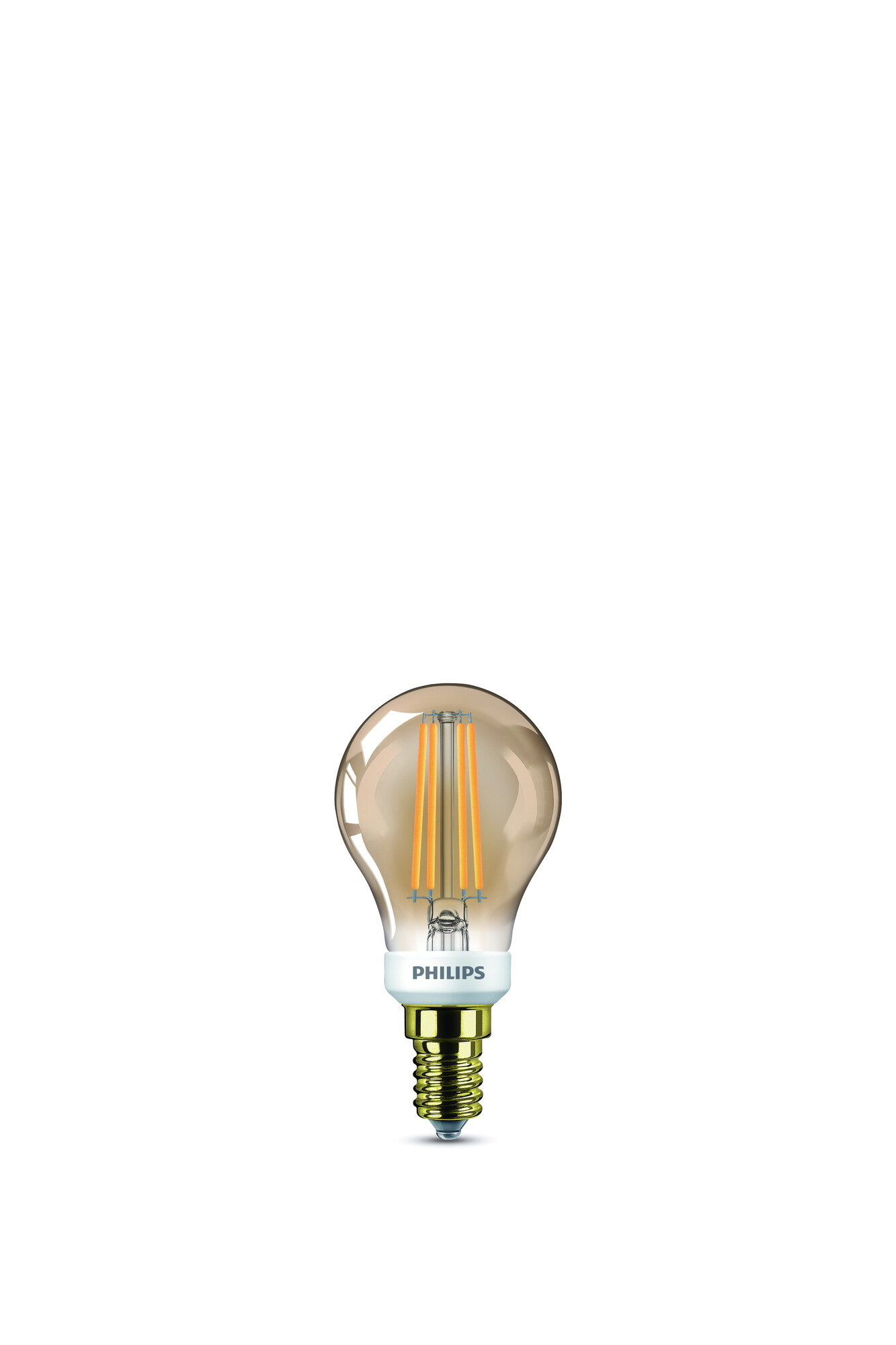 Philips LED classic E14 5W 350lm 2200K Coating doré