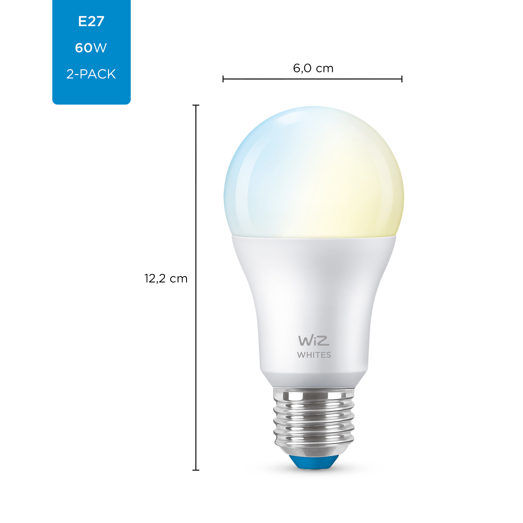 WiZ E27 60W 806lm 2700K Lamp Frosted