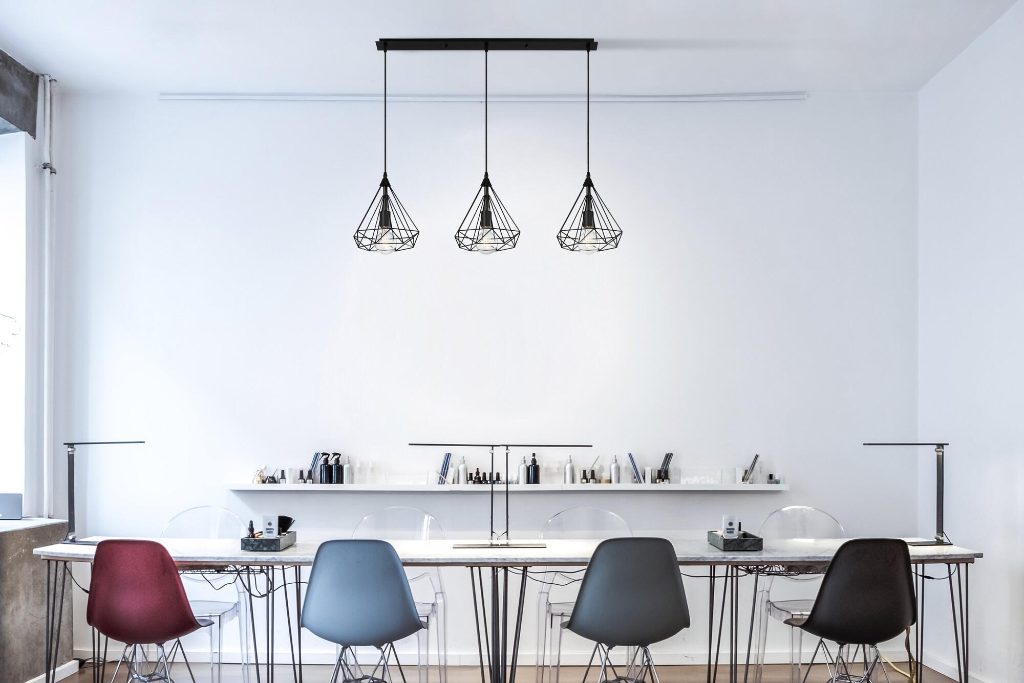 ARTY Hanglamp E27 3x Zwart