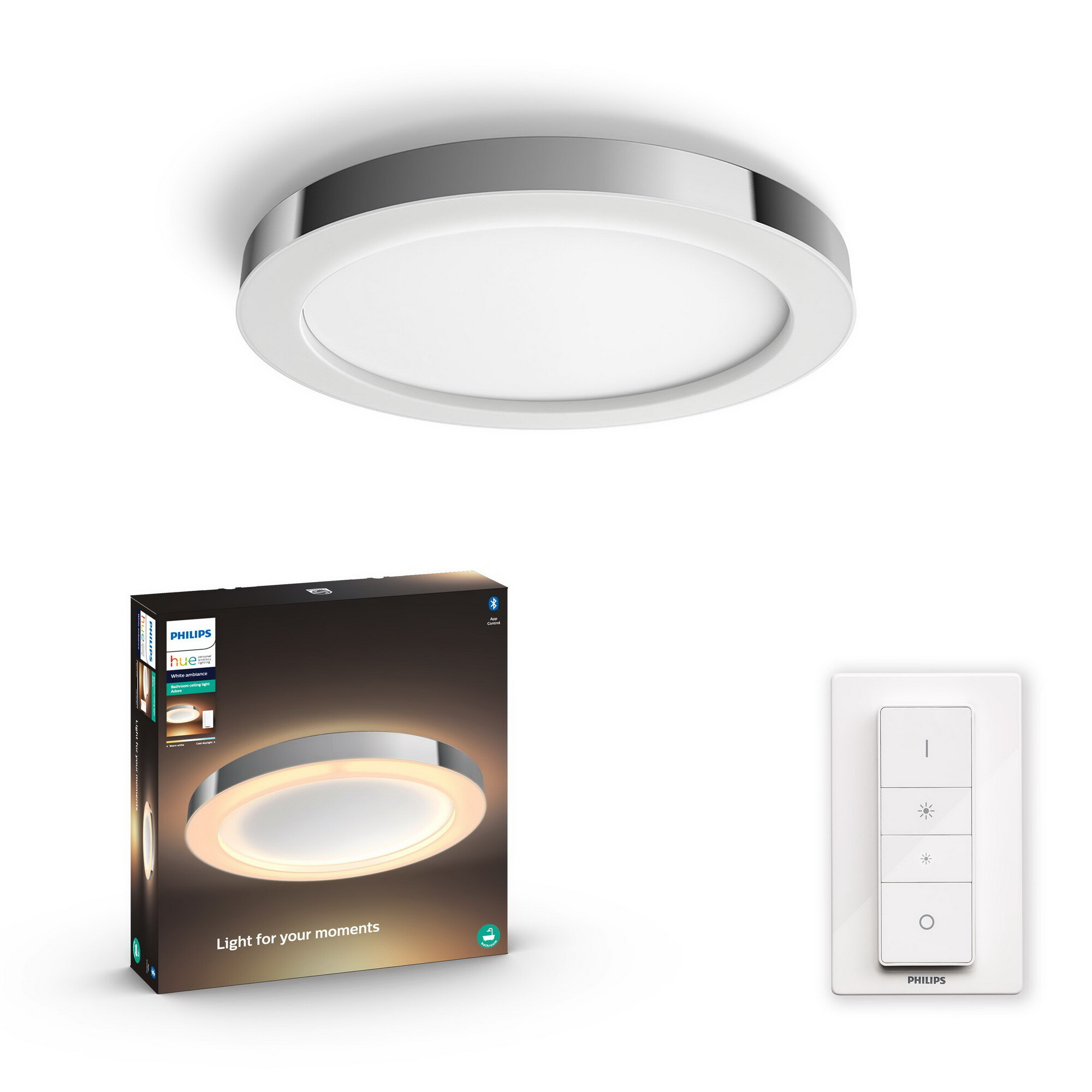Philips HUE ADORE Plafondlamp LED 1x40W/2400lm Zilver