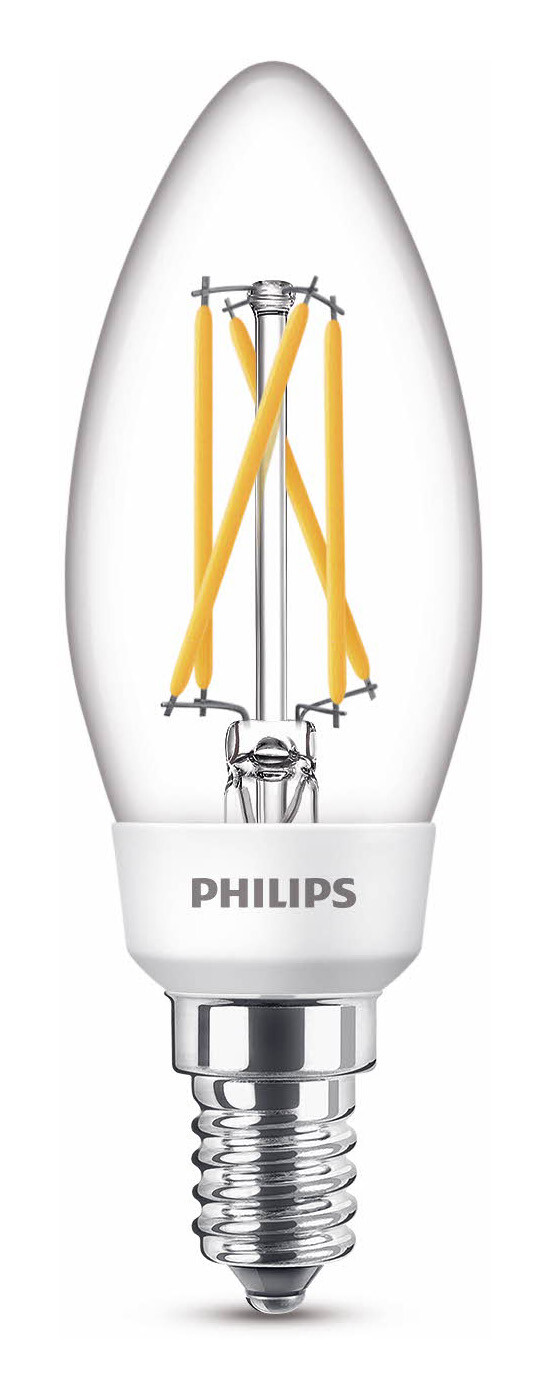 Philips LED classic E27 5W 470lm 2200K-2700K Standaard Transparant