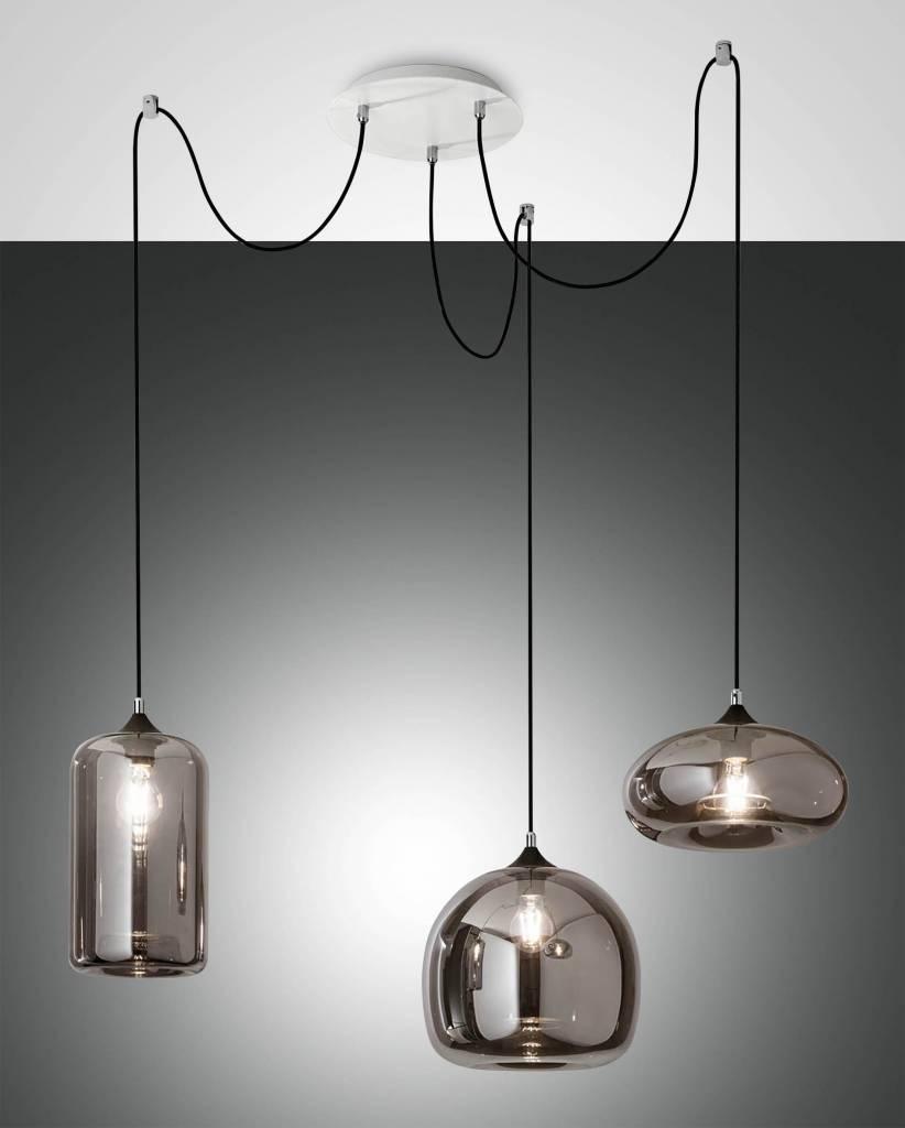 FIONA Hanglamp E27 3x Lichtgrijs