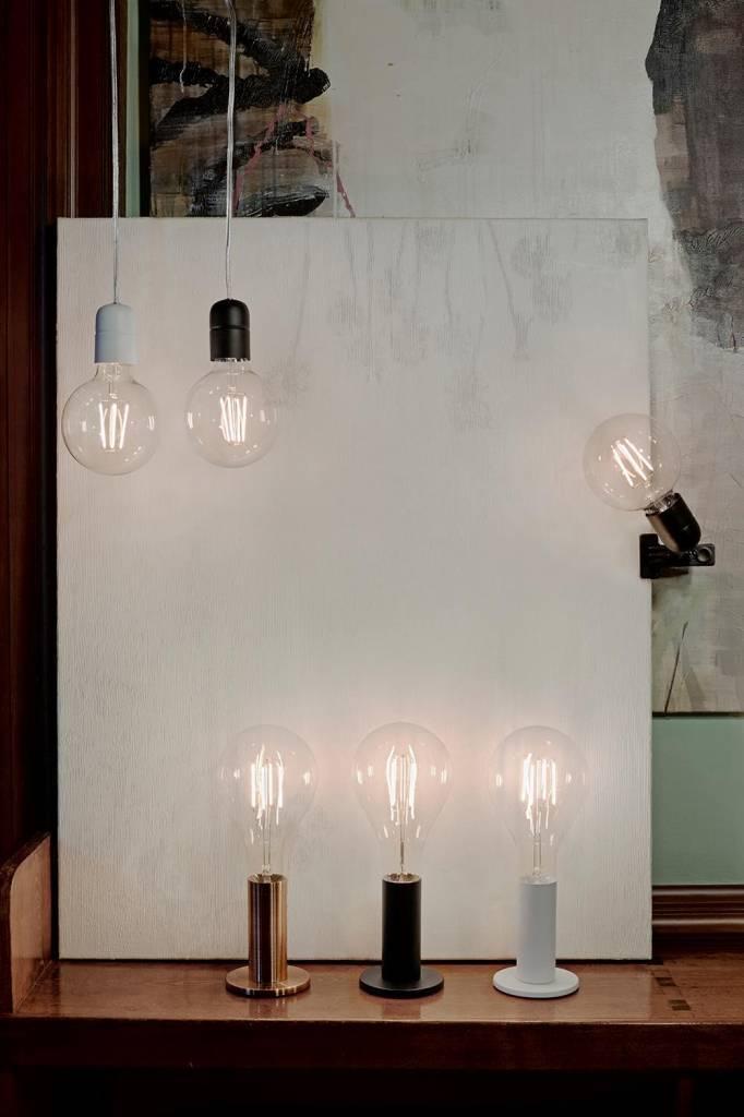 ELEGANCE Tafellamp E27 1x Zwart