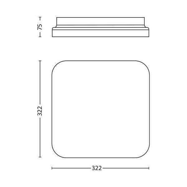 Philips MAUVE Plafondlamp LED 1x17W/1700lm Wit