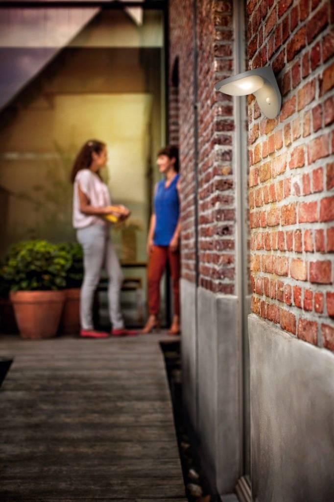 Philips DUSK Wandlamp LED 1x1W/100lm Lichtgrijs