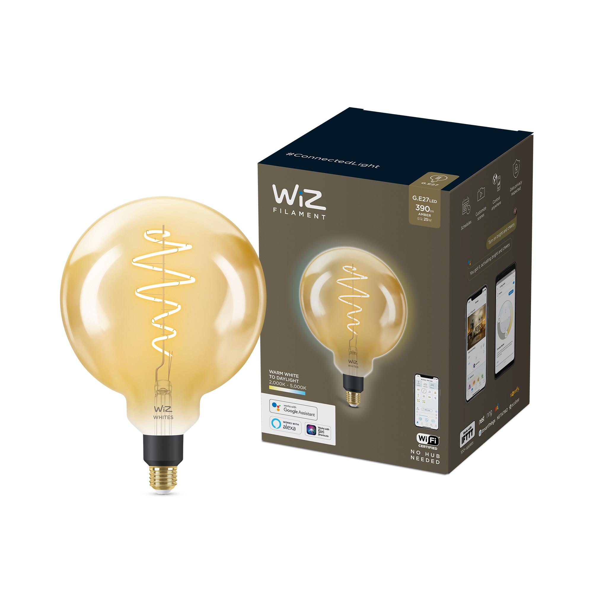 WiZ E27 25W 390lm 2000K Globe Gouden coating
