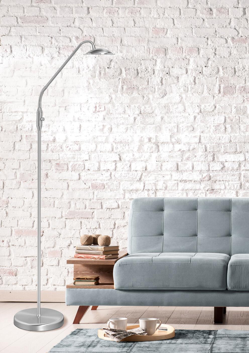 JUPITER Vloerlamp LED 1x6W/540lm Zilver