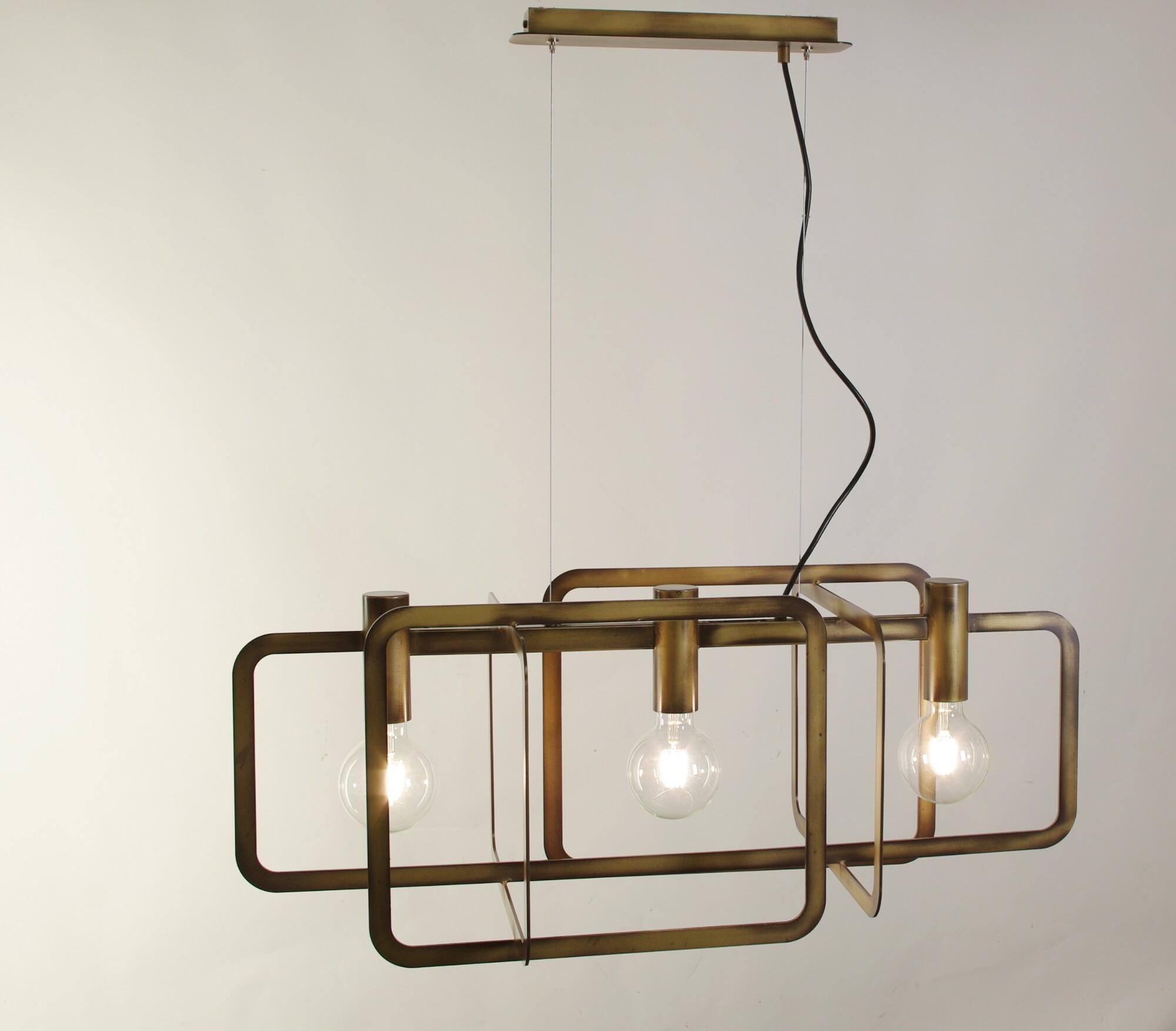 CARTESIO Hanglamp E27 3x Koper