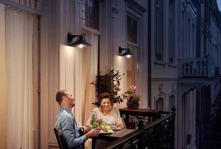Philips CORMORANT Wandlamp 1x Zwart