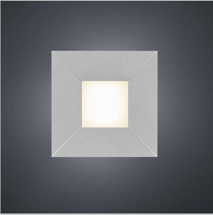 DIAMOND Plafondlamp LED 1x8W/800lm Vierkant Lichtgrijs