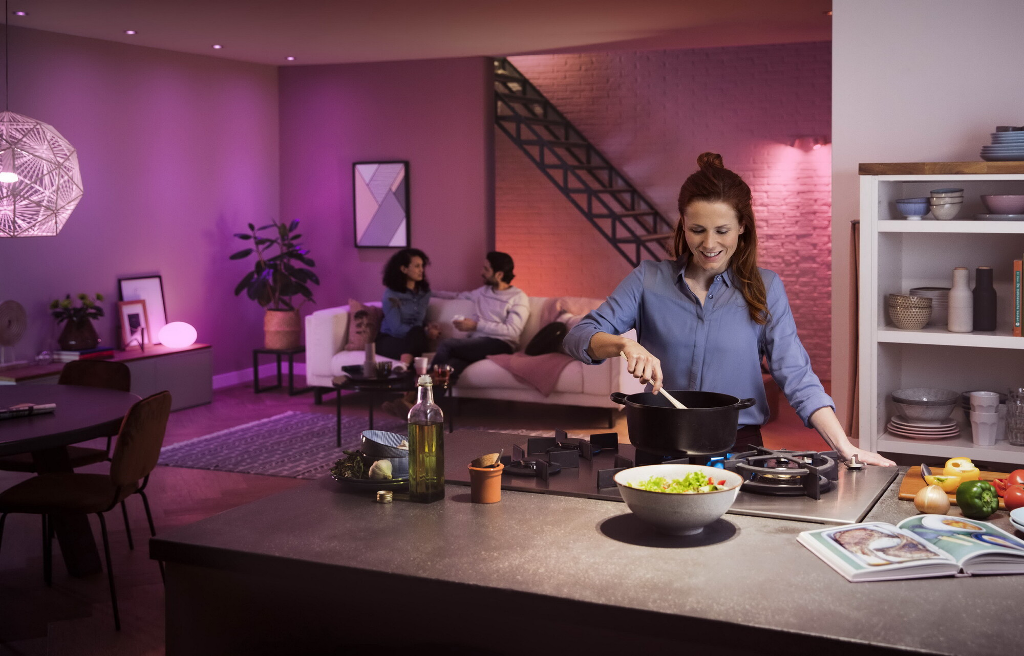 Philips HUE White and color ambiance GU10 5,7W 350lm 2000K-6500K Spot Frosted