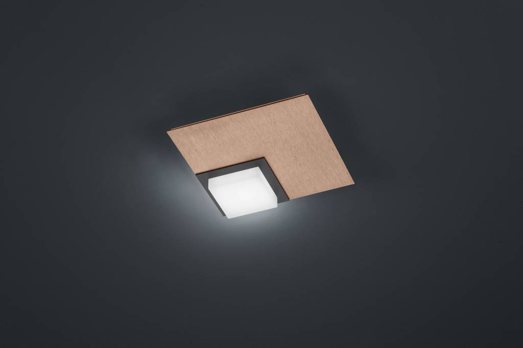 QUADRO Plafondlamp LED 1x 800lm Rose goud