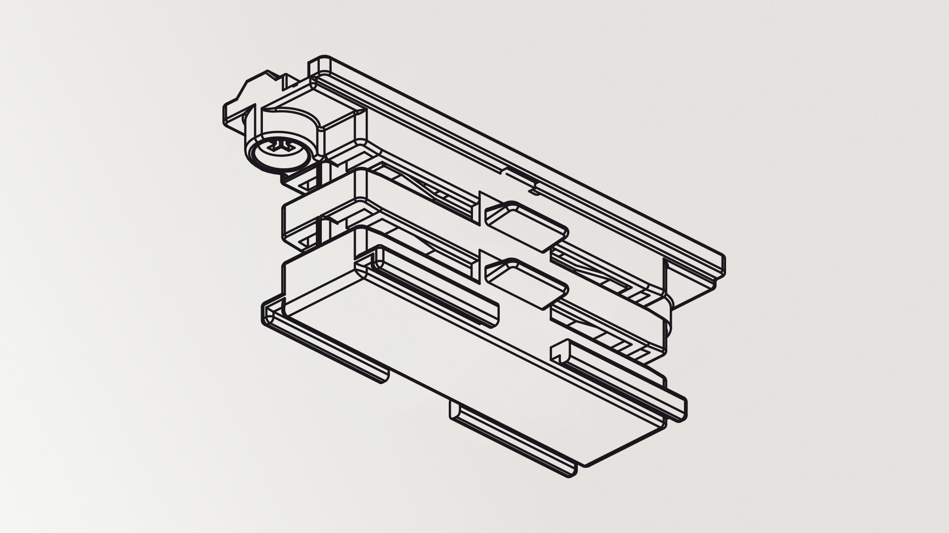 Contact joint rail 3 phase Noir