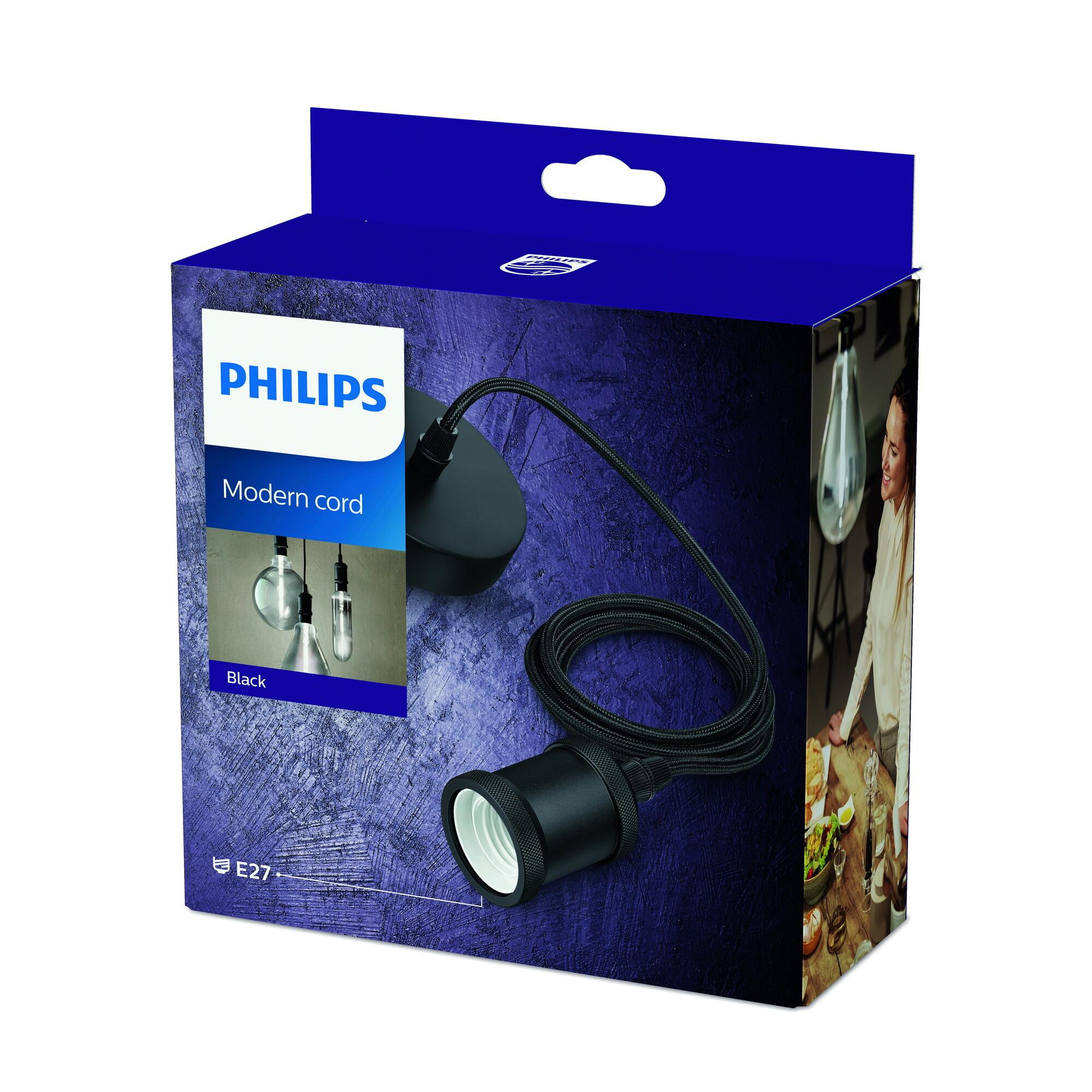 Philips MODERN Hanglamp E27 1x Zwart