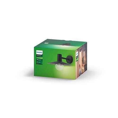Philips SKUA Applique E27 1x Noir