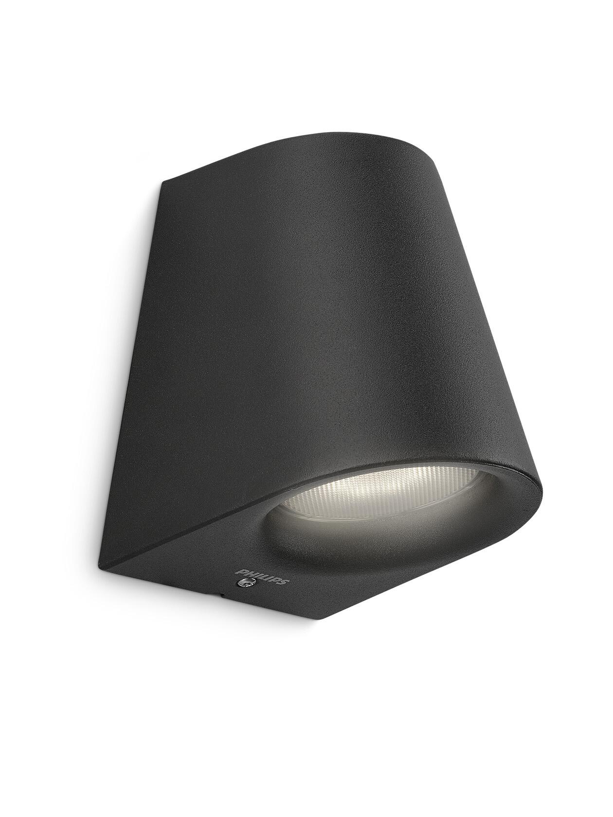 Philips VIRGA Wandlamp LED 1x4W/270lm Zwart
