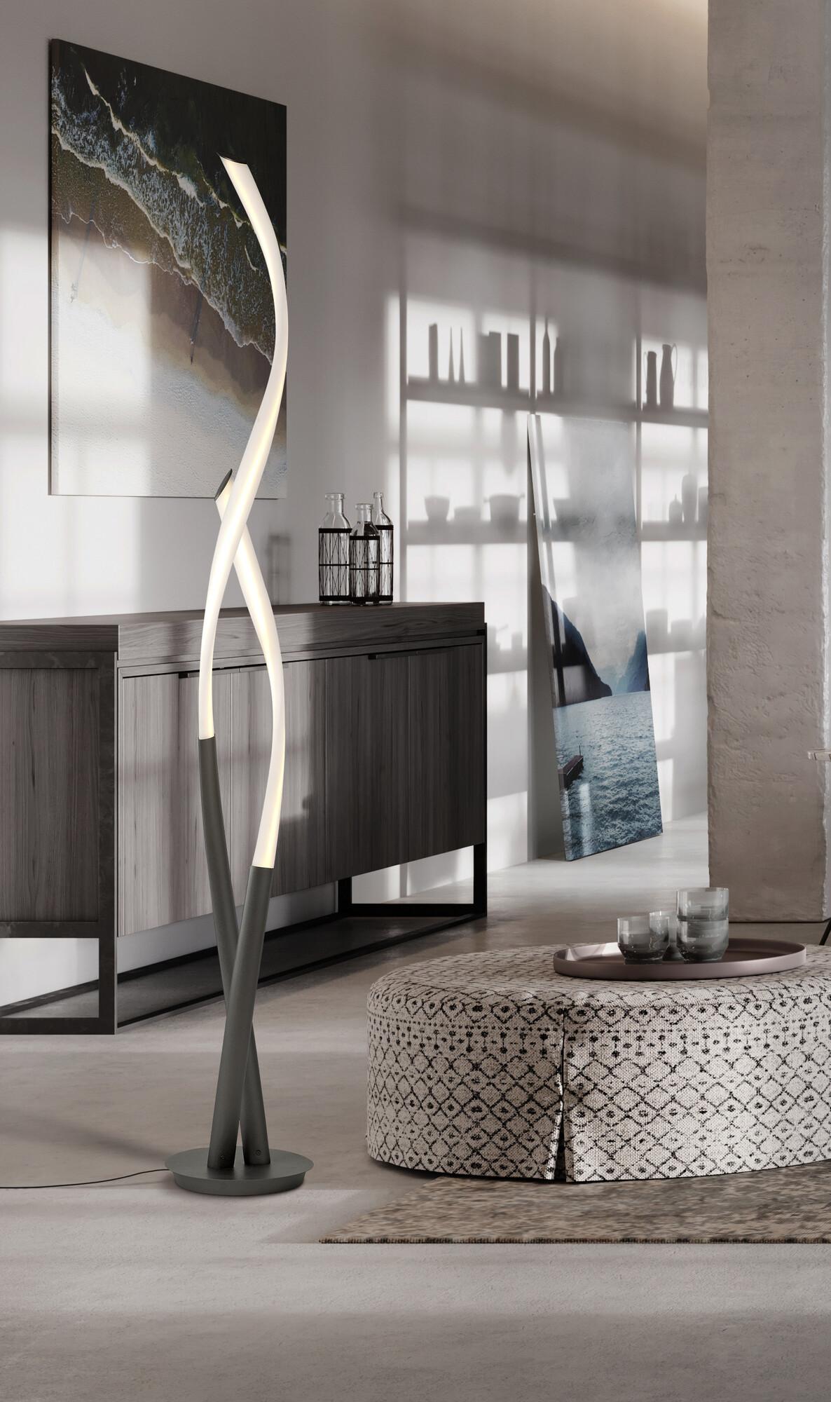TITANIO Vloerlamp LED 1x30W/2250lm Wit