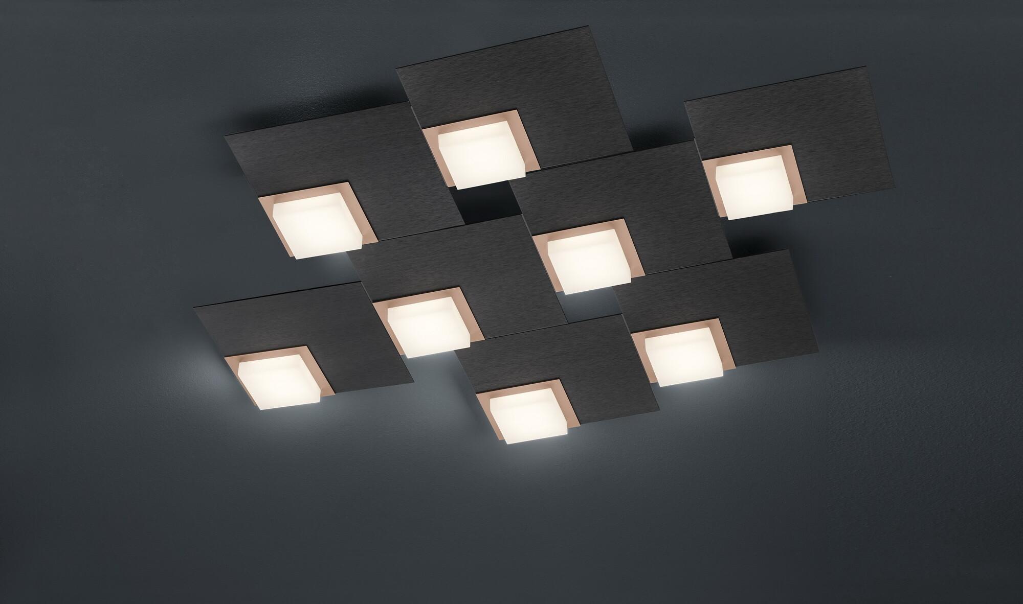 QUADRO Plafondlamp LED 8x 800lm Lichtgrijs